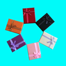 12Psc/Lot Mixcolors Cardboard Jewelry Set Boxes for Necklace Earring Ring Rectangle Jewellery Jewelry box cases Display 7*9*3cm(China (Mainland))