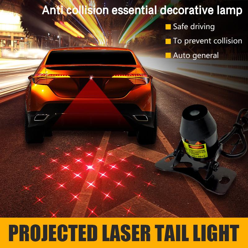 2015 hot sell Car laser fog lamp belt pattern laser lighting anti-collision warning light(China (Mainland))