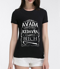 Buy Avada Kedavra letters printed female t-shirt 2017 summer fashion t shirt women harajuku kawaii funny brand tops for $4.70 in AliExpress store