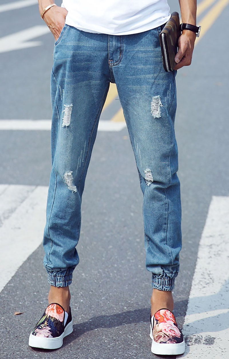 Jeans With Holes Mens - Jeans Am