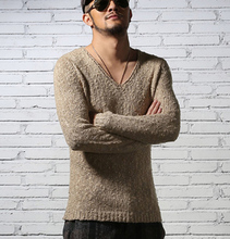 Pullover Men V neck Sweater Men's Brand Slim Fit Pullovers Casual Sweater Knitwear Pull Homme High Quality 2016 New Fashion(China (Mainland))