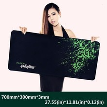 2015 Newest Control Edition Super large mouse pad 900*300*3mm and 700*300*3mm with locking edge for desktop and laptop computer