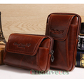 2017 New Men Oil Wax Genuine Leather Vintage Travel Cell Mobile Phone Case Cover Belt Pouch