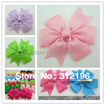 Free Shipping!240pcs/lot 40 Colors Baby Solid Pinwheel Bows Hair Clips,Baby Boutique Bows ,Baby Girls' Hair Accessories