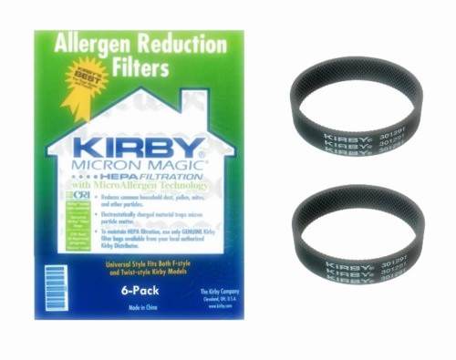 Fit for Kirby Micron Magic Universal HEPA Style F Allergen Bags - 6 Pack + 2 Belts(China (Mainland))