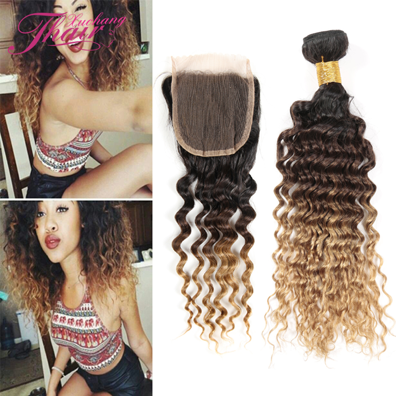 King Hair Peruvian Body Wave With Closure 3 Bundles Of Peruvian Virgin Hair With Middle Lace Closure Ombre Bundles With Closure<br><br>Aliexpress