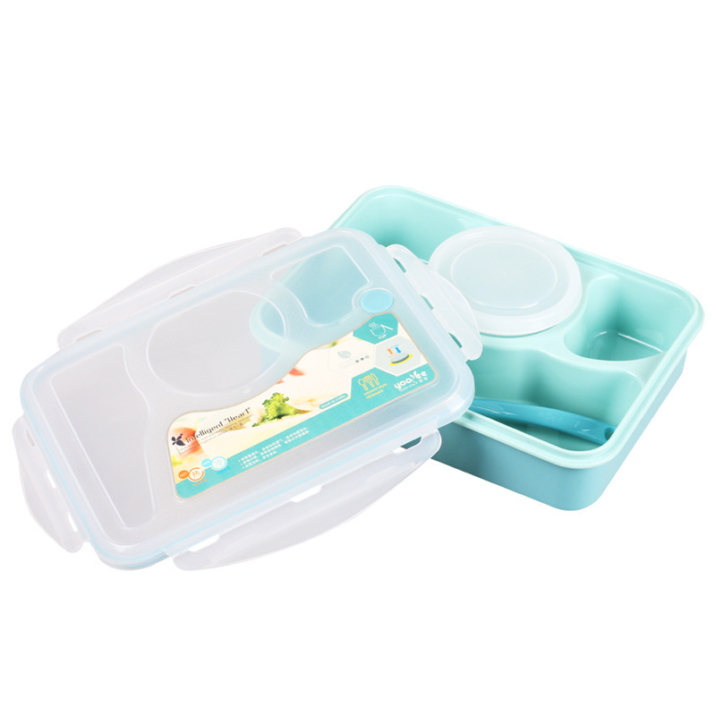 Warm home 4+1 Microwave food thermos Bento lunch box Food Container tableware dinnerware sets kitchen cooking tools DH57 - I Case store