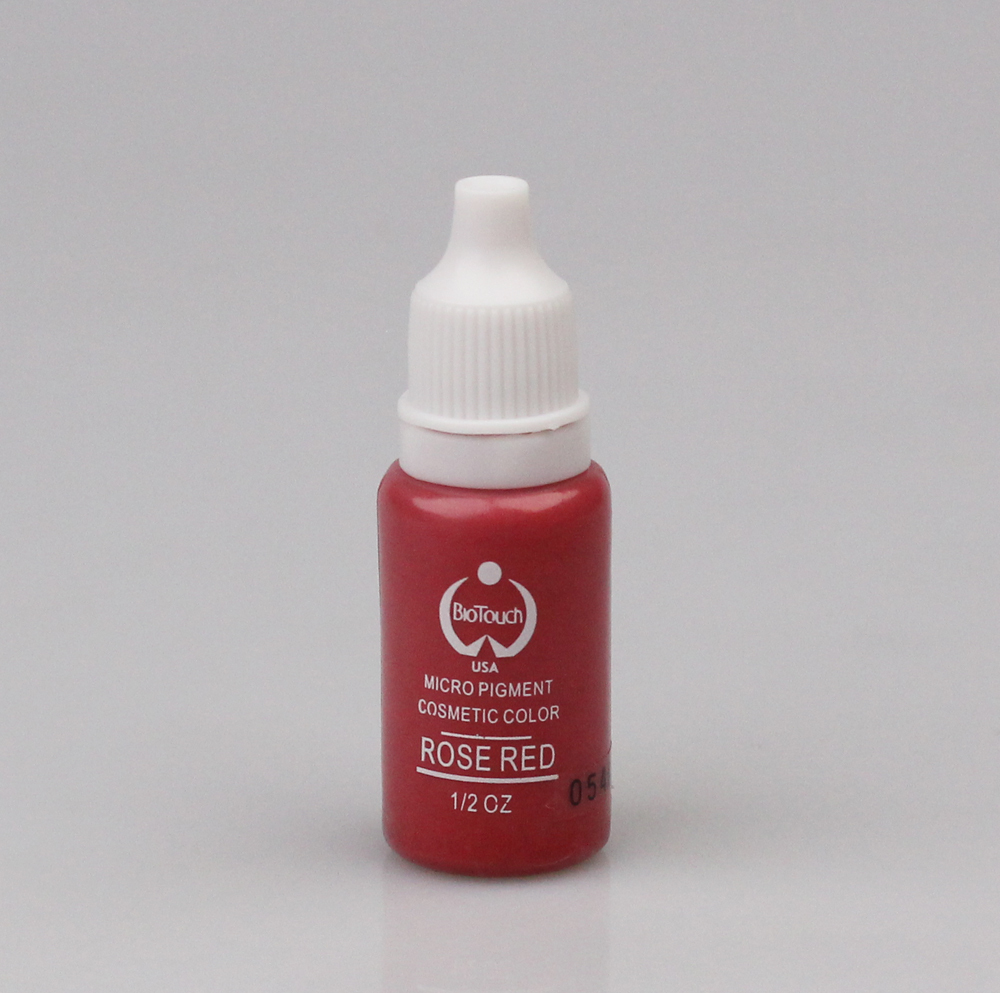 2pcs ROSE RED color tattoo ink 15ml (1/2OZ) eyebrow make up lips body paint ink(China (Mainland))