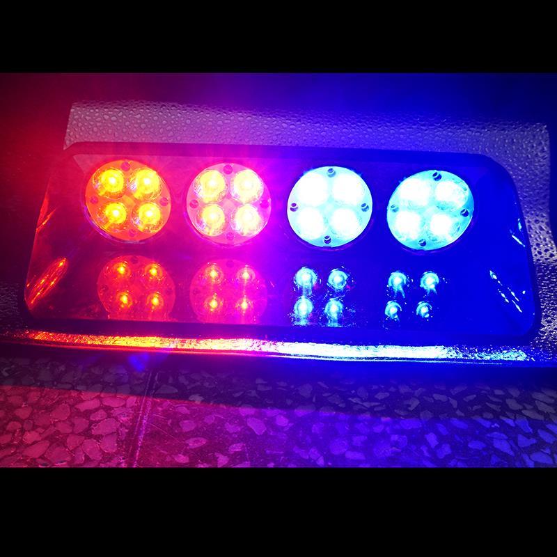 Здесь можно купить  16 LED Strobe Flash Warning EMS Police Car Light Flashing Firemen Fog 16LED High Power Red Blue Amber White 12V 24V 48W S16  Автомобили и Мотоциклы