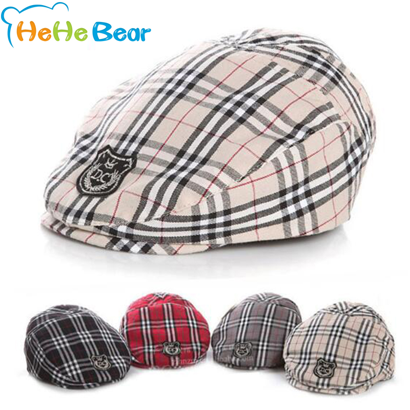 Cute !! Baby Plaid Design England Style Fashion Cap Summer Berets Baby Hat For Boys/Girls Caps For Children Berets Kids Baby cap(China (Mainland))