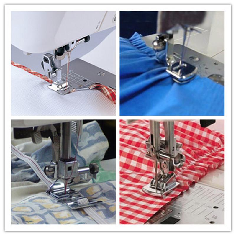 Hot Sale 1pcs Fold Hem Presser Foot Feet Kit For Sewing Machine Free shipping