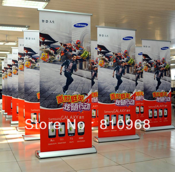High quality roll up banner, Banner stands (Free printing), Pull up banner(China (Mainland))