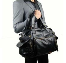 New 2015 Fashion Men Messenger Bags Genuine Leather Multifunctional Male Travel Bag Large Capacity Mens Handbags Brown Black(China (Mainland))