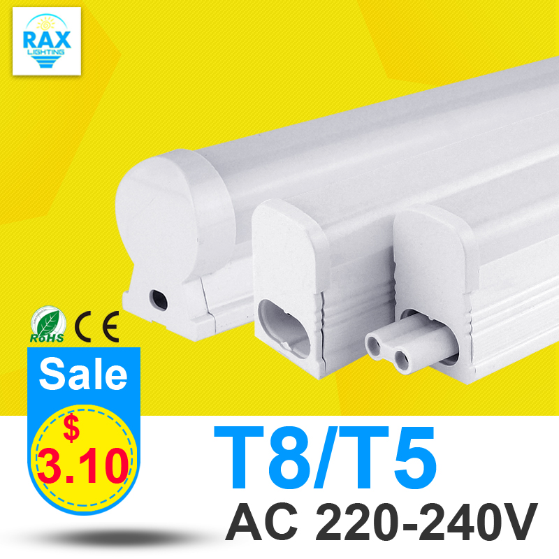 PVC Plastic 10W 6W LED Tube T5 Light 220V 240V 60cm 30cm LED T5 Lamp Led Wall Lamp Cold White Led Fluorescent T5 Neon(China (Mainland))