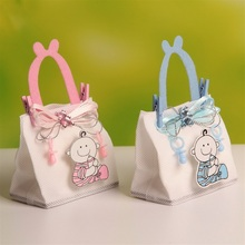 12Pcs Nonwoven Fabric Baby Shower Theme Baby Candy Bags Party Favors with Handle and Clips (BF-123)(China (Mainland))
