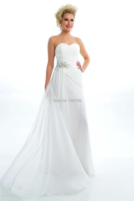 White Prom Dresses Cheap