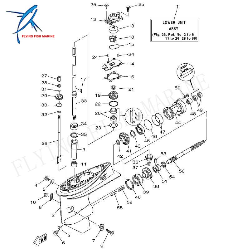 Boat Motor 63D 44316 00 Water Pump Gasket for Yamaha 2