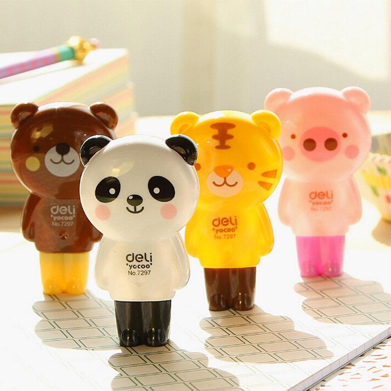 16 pcs/lot cartoon animals correction tape kawaii material escolar korean stationery school supplies papelaria<br><br>Aliexpress