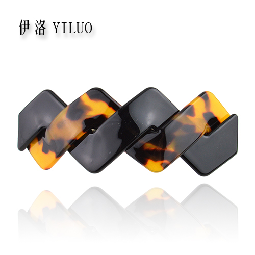 Multicolored French Hand Making Cellulose Acetate Hair Clip Barrette 8 cm Long FREE SHIPPING(China (Mainland))