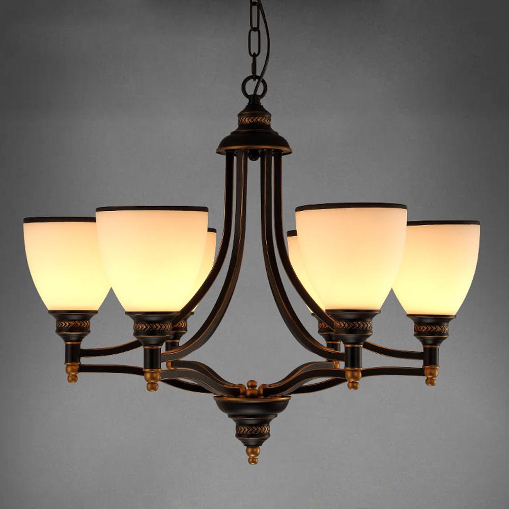 Modern european chandelier simple retro chandelier bronze for Chandeliers for dining room modern