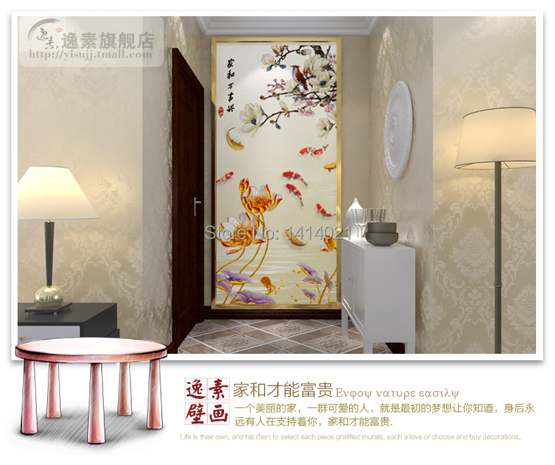 Sitting/bedding room/kids' room,TV setting wall 3D photo wallpaper goldfish swimming water papel de parede 3D mural wallpaper(China (Mainland))