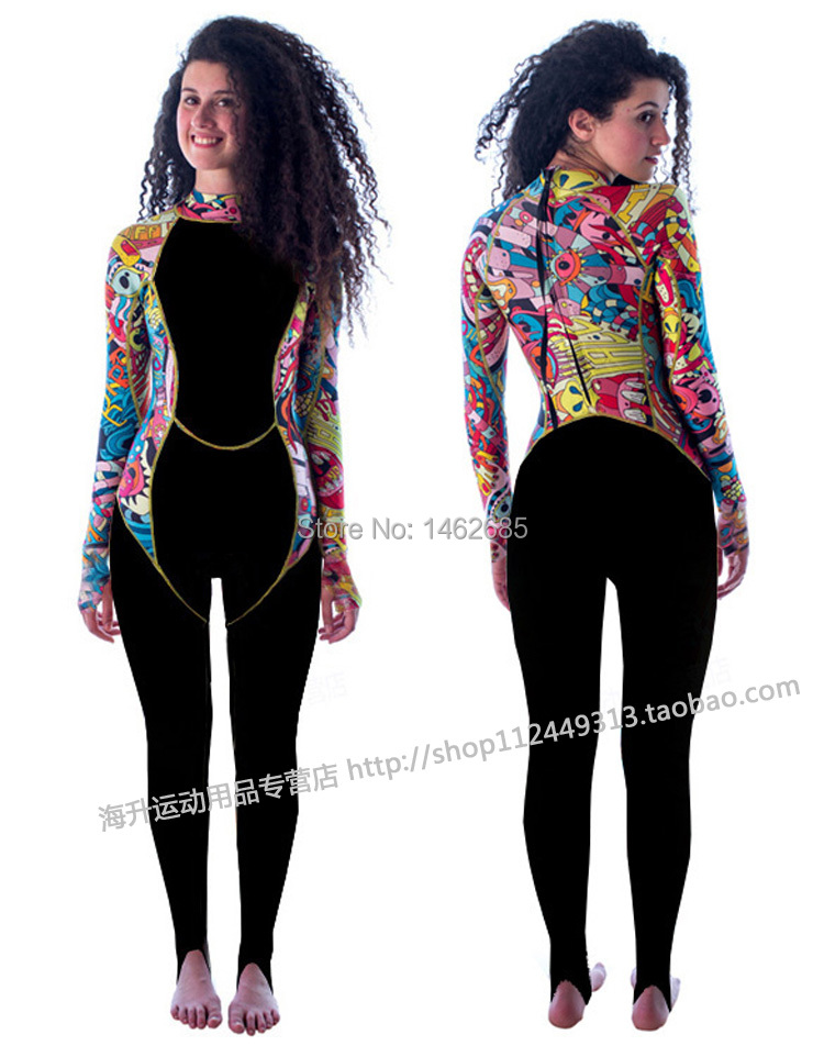 Brand NEW Uv Sunscreen Long-sleeve One Piece Lycra Wetsuit Neoprene 0.5mm, Jumpsuit Diving Suit Wetsuits