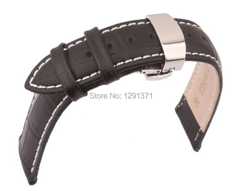 4 Styles to Choose,TOP Selling Watch Band,18/20/22mm Genuine Leather,Silver Butterfly Buckle,Watch Straps Free Shipping BB0035<br><br>Aliexpress