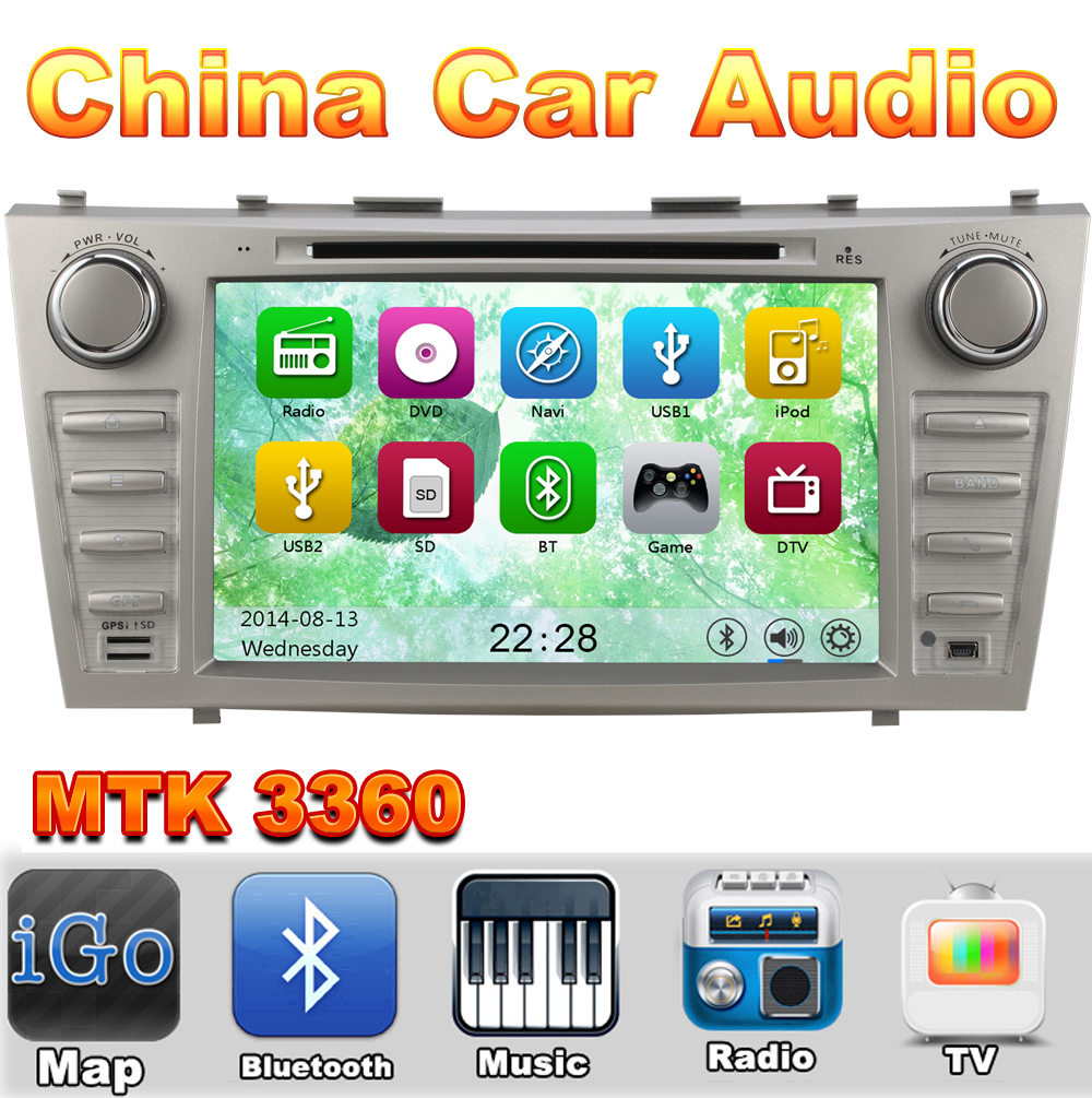 MTK3360 Car DVD Silver Color Automotivo DVD Player For Toyota Camry 2007 2008 2009 2010 2011 Radio GPS TV(China (Mainland))