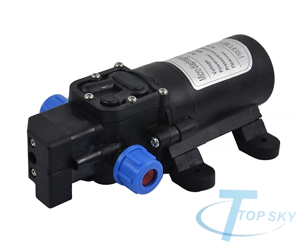 New Automatic Switch DC 12V 60W 5L/min Diaphragm High Pressure Submersible Water Pump bomba de agua(China (Mainland))