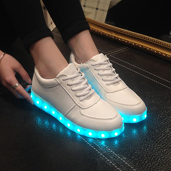 2016 Fashion High Quality Led Shoes For Adult USB Charging Women & Men Casual Shoes Glowing Unisex Lovers Light Shoes c2 65