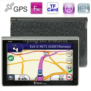 Q800 7.0 inch TFT Touch Screen Car GPS Navigator ,800 x 480 pixel,4GB Memory and Map,Voice Broadcast, FM Transmitter and TF Card