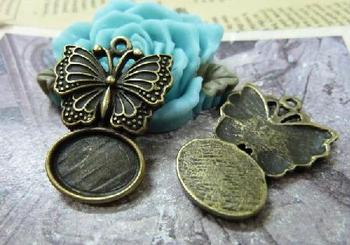 Min order is $15(Mixed order ) 10pieces/LOT 21mmx27mm ancient bronze base charm