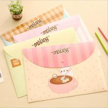 24pcs/lot Cartoon Molang A4 PVC File folder /Documents organizer bag/Stationery Filing Production/Wholesale(China (Mainland))