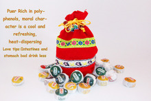 jasmine puer Mini bowl Ripe tea Hot Selling Special Grade pu er tea 220g 50pieces bag
