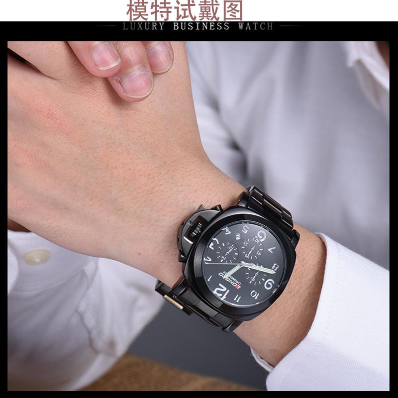 LONGBO 6pin Мужчины Мода Люкс Gerner Кожа Большой Циферблат Водонепроницаемый Кварцевые Наручные Часы, Топ Qualiry Мужчины Водонепроницаемые Часы 80180