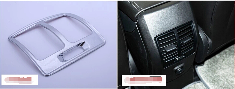 For Ford Kuga Escape 2013-2014 High Equipped Model Chrome Rear Air conditioning Outlet Vent Cover Trims(China (Mainland))