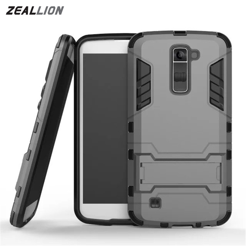 LG K5 K7 K10 / G4 G5 G6 / V10 V20 / Leon C40 Case 2 1 High Hard Plastic Silicone Stents Cases Back Cover