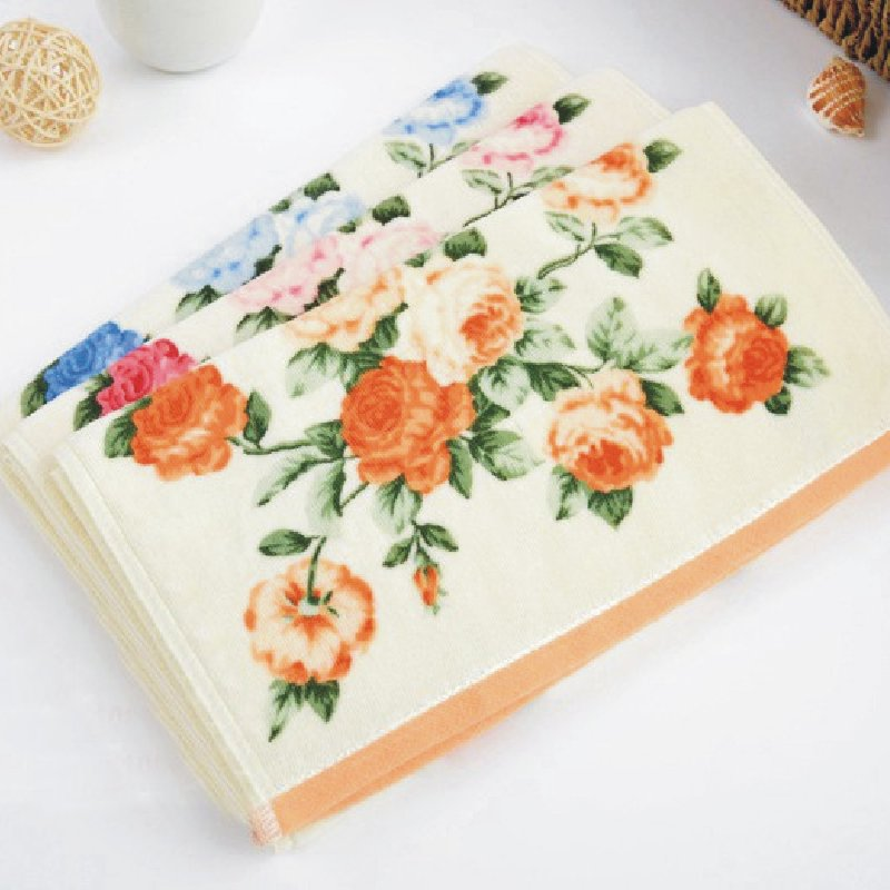 35*75cm Luxury Printed Flower Cotton Terry Hand Towels,Patterned Floral Face Bathroom Hand Towels for Adults,Toallas Algodon(China (Mainland))
