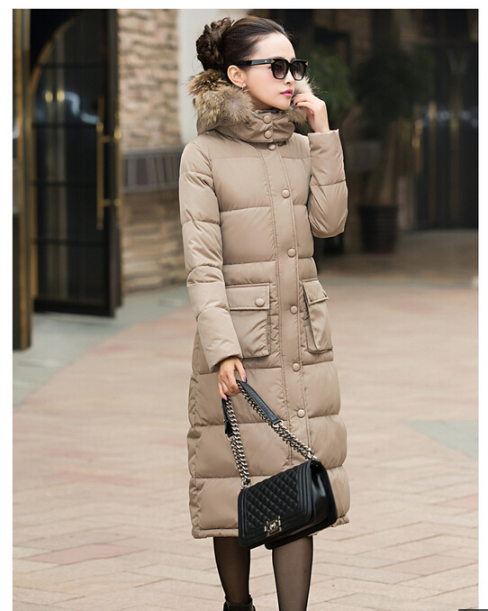 2015 South Korea Winter Latest Ladies Fashion Coat Super Warm Padded jacket Elegant Pure color Thicken Hooded Long Coat G0023Одежда и ак�е��уары<br><br><br>Aliexpress