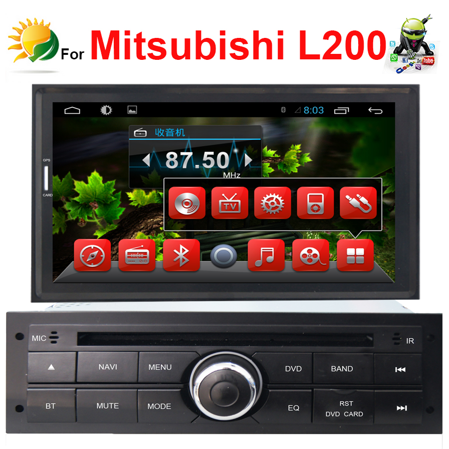 product Car DVD for Mitsubishi L200 with GPS radio USB 1G CPU 3G wifi Support DVR 7 inch HD screen audio video player with CanBus