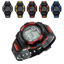 Multifunción impermeable niños niño de la muchacha exterior deportes banda de silicona reloj de pulsera reloj electrónico