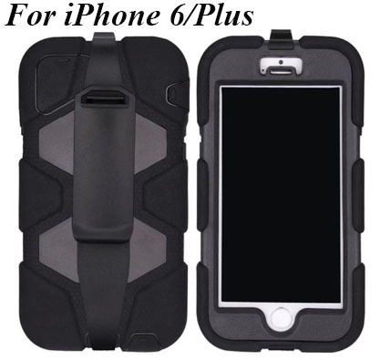 Free Shipping Durable Heavy Duty MILITARY SHOCKPROOF/DUSTPROOF/WATERPROOF Case Cover for iPhone 6 4.7 Inch Cases with Belt Clip(China (Mainland))