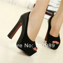 2016 New Fashion Womens Peep toe Pumps Brand High Heels Woman Pumps Ladies High Heeled Dress