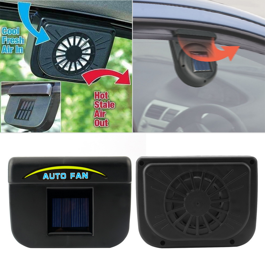 car ventilation fan Solar Sun Power Car Window Fan Auto Ventilator Cooler Air Vehicle Radiator vent With Rubber Stripping