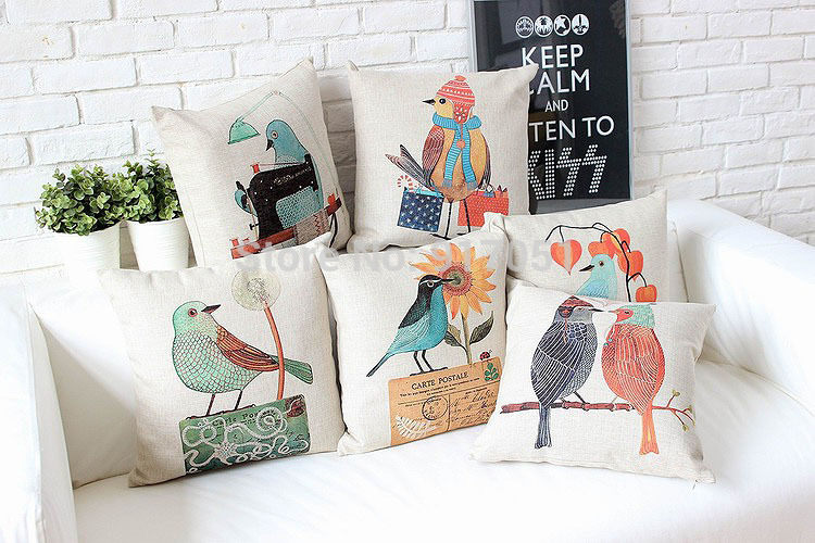 Free shipping Country style sewing bird sunflower . & Online Get Cheap Sewing Patterns Seat Cushions -Aliexpress.com ... pillowsntoast.com