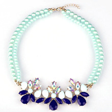 Buy Match-Right Multicolor Crystal Simulated Pearl Statement Necklace Women Bling Necklace & Pendants Summer Style Jewelry colar for $2.69 in AliExpress store