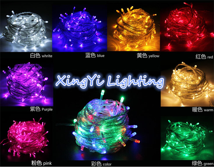 10M 100LED holiday String lights for Christmas Festival Party Fairy Colorful Xmas LED String Lights(China (Mainland))