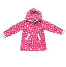 spring autumn warm fleece girls hoodies children sweatshirts kids jackets coat child clothes size 100-130cm(China (Mainland))