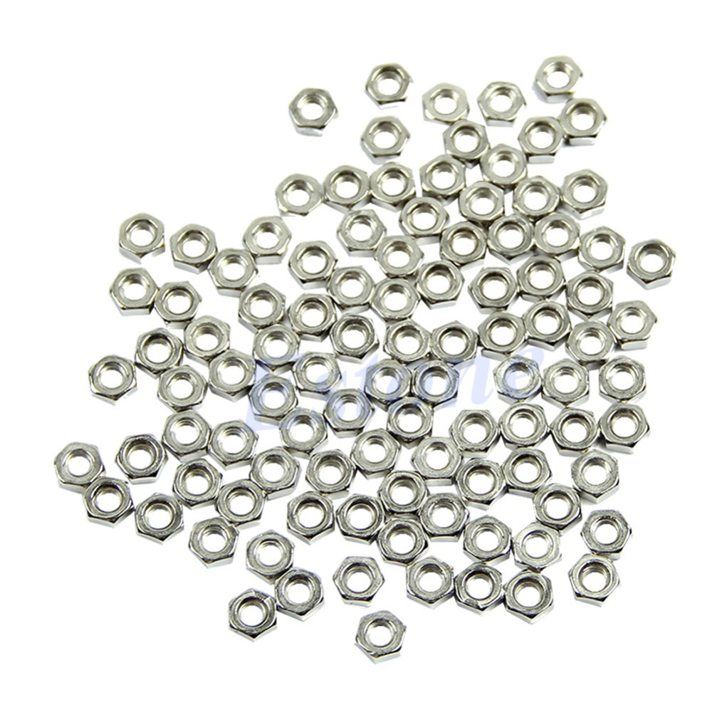 M3 Dia 3mm Hex Screw Nut Carbon Steel Nuts Good Quality DIY New 100pcs Free shipping-Y102<br><br>Aliexpress