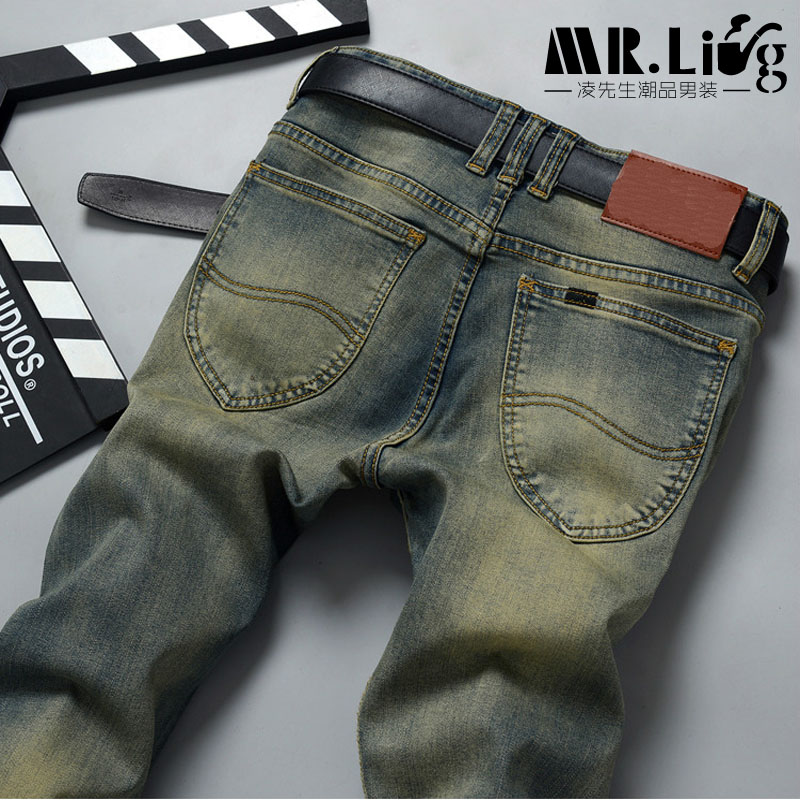 Pantalones Hombre Vaqueros Men Jeans Pants Slim Fit Robin Biker Jeans Mens Denim Joggers Skinny Jeans